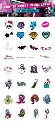 monster-high sticker sheet